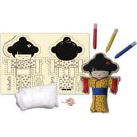 Boneca De Pano Kokeshi Alegria Sem Bateria Colorido