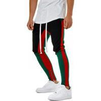 Calça Masculina Swag Unique Colors - Preto E Verde