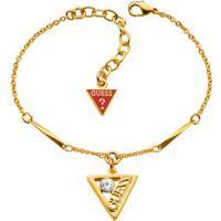 Pulseira Com Pingente De Triangulo - Dourada - 39Cm