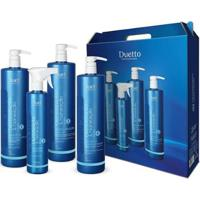Kit Duetto Hair 1 Shampoo 1L + 1 Booster 500Ml + 1 Restaurador 1L + 1 Leave-In 1L - Unissex-Incolor