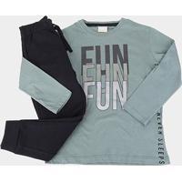 Conjunto Infantil Milon Fun Masculino - Masculino-Verde Escuro