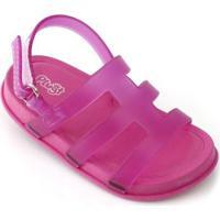 Sandália Bebê Plugt Mini Bizz Feminina - Feminino-Pink