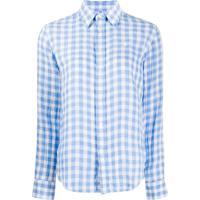 Polo Ralph Lauren Camisa Xadrez Com Logo Bordado - Azul