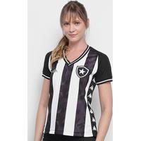 Camisa Botafogo I 19/20 S/Nº Torcedor Kappa Feminina - Feminino