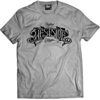 Camiseta Skull Clothing Westside Original Masculina - Masculino-Cinza