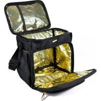 Bolsa Termica Best Fit Prada - Unissex-Dourado+Preto