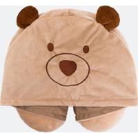 Travesseiro De Viagem Com Capuz Estampa Urso