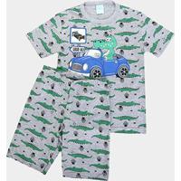 Pijama Infantil Kyly Carro Brilha No Escuro Masculino - Masculino-Mescla