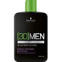Shampoo Antiqueda Ativador De Raizes Schwarzkopf Professional 3D Men 250Ml - Unissex