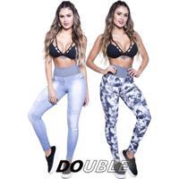 Legging Double Club Lipsoul - Feminino-Estampado