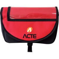 Bolsa Para Guidão De Bicicleta Acte Sports A26 Com Faixa Refletora Vermelho
