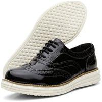 Sapato Casual Oxford Conforto 300 Preto