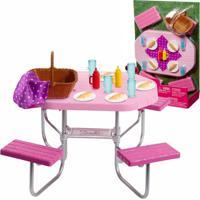 Barbie Móveis Básicos Piquenique - Mattel - Kanui