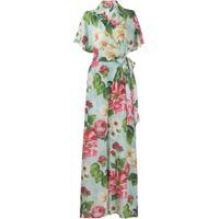 Dolce & Gabbana Floral Print Wrap Jumpsuit - Azul