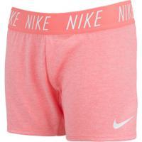 Shorts Nike Dry Trophy Feminino - Infantil - Rosa Cla/Branco