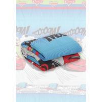 Edredom Solteiro Santista Disney Light Cars Comics 150X220Cm Azul