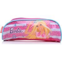 Estojo Infantil Sestini Simples 16M Plus Lilás/Rosa Barbie