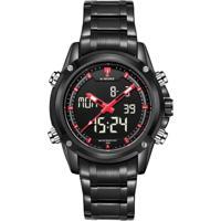 Relógio Naviforce Nf9050 - Preto E Vermelho
