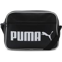 Bolsa Puma Campus Reporter Retro Preta