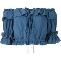 Olympiah Blusa Cropped Laurier - Azul