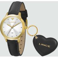 Kit Relógio Feminino Strass Lince Lrc4508L Ku59S1Px