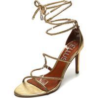 Sandália Ellus Metalizada Dourada