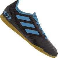 Chuteira Futsal Adidas Predator 19.4 In - Adulto - Preto/Azul Cla