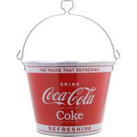 Balde De Gelo Metal Coca-Cola - Urban - Vermelho