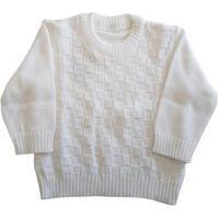Blusa De Lã Com Quadrados Tricô Kids
