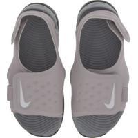 Papete Nike Sunray Adjust 5 - Infantil - Roxo Claro/Cinza