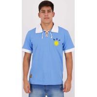 Camisa Retrô Uruguai Masculina - Masculino-Azul