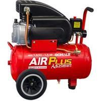 Compressor De Ar Schulz Air Plus Adventure Msi 7.6/22L Com Motor 1.5 Hp - Vermelho