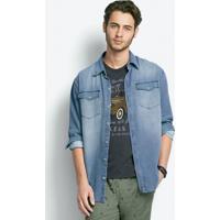 37a1212c28 Camisa Jeans Masculina Comfort Em Algodão