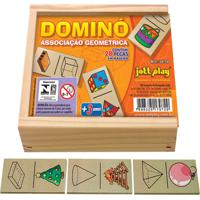 Dominó Associação Geométrica 28 Peças - Jottplay