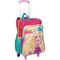 Mochila Infantil C/ Bolso 2 Em 1 Barbie 19M Plus - Feminino-Rosa