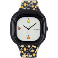 Relógio Hopes Fome Print - Unissex