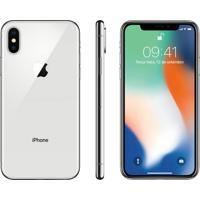"Iphone X Apple 64Gb Prata Tela Super Retina Hd Oled 5.8"" Ios 11 4G E"