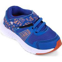 Tênis Infantil No Estress Running Com Cadarço E Velcro - Feminino