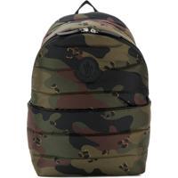 Moncler Kids Camouflage-Print Logo Backpack - Verde