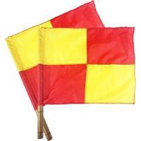 Bandeira Para Árbitro Auxiliar Quadriculada - Par - Unissex