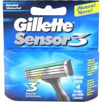Carga Gillette Sensor 3 Com 4 Unidades