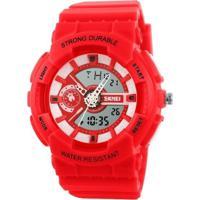 Relógio Skmei Anadigi 1052 Vermelho