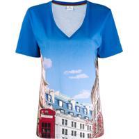 Ps Paul Smith Camiseta Com Estampa De Telefone - Azul