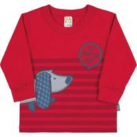 Blusa Bebê Menino - Masculino-Vermelho