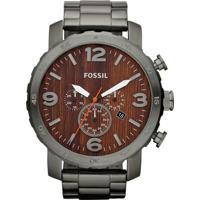Relógio Fossil Analógico - Masculino-Chumbo