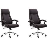 Conjunto Com 2 Cadeiras De Escritório Presidente Canaman Preto