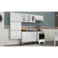 Cozinha Modulada Completa 4 Módulos Com Balcão Luce Em Aço Branco - Itatiaia