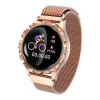 Relógio Smartwatch D18 Com Pulseira De Metal Feminino - Dourado