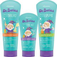 Combo Cabelinho Perfumado Dr. Botica: Shampoo + Condicionador + Creme De Pentear