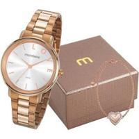 Relógio Mondaine 2K1 Com Pulseira Feminino - Feminino-Rosê